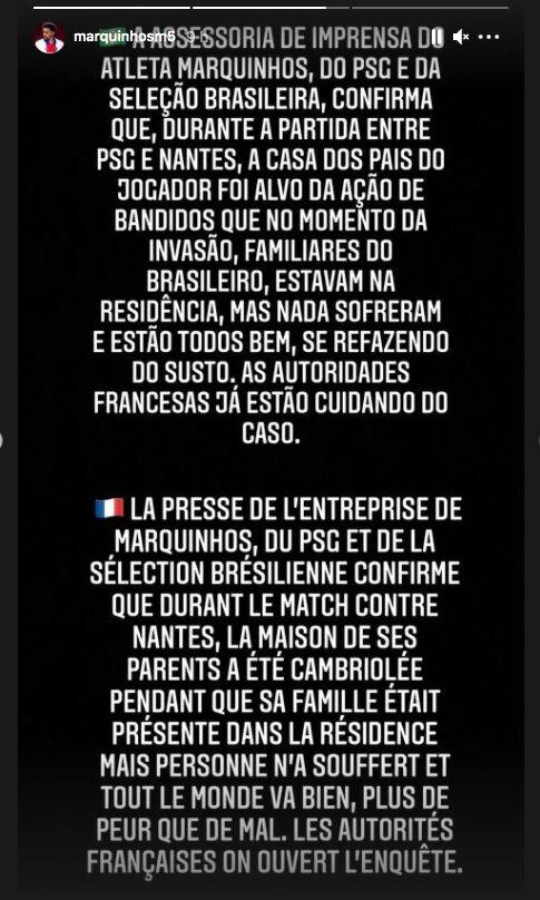 Angel Di Maria et Marquinhos du PSG : Leurs familles séquestrées et cambriolées pendant un match