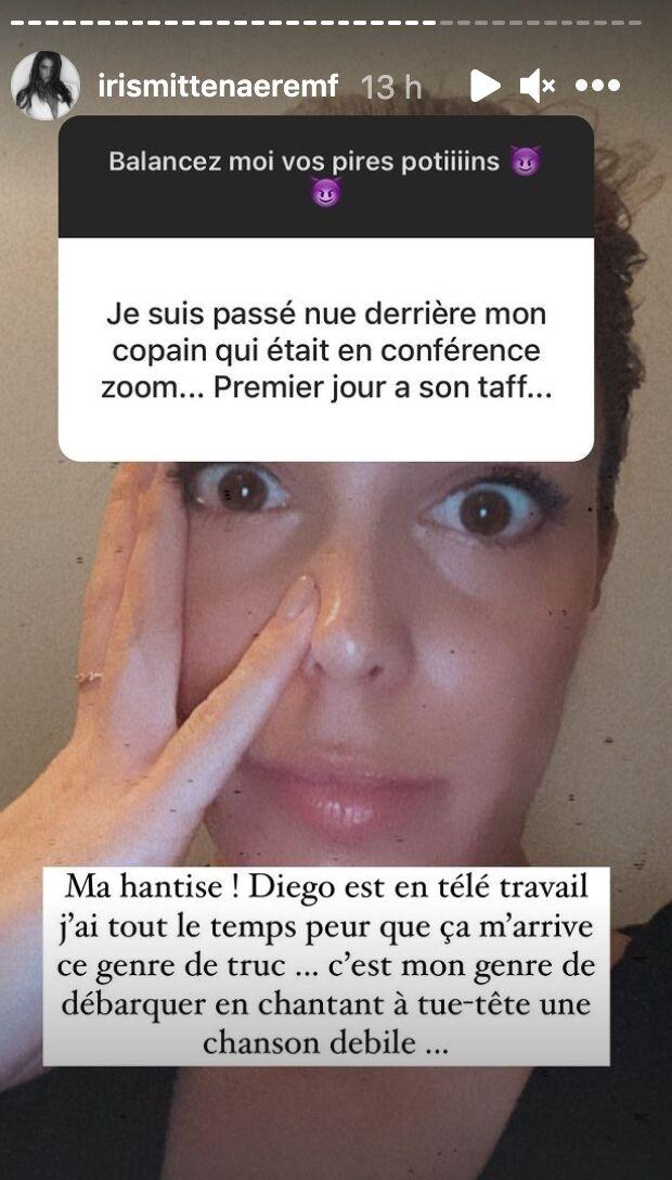 """Iris Mittenaere nue dans un live zoom de son chéri ? Elle s'explique sur sa """"hantise"""" !"""