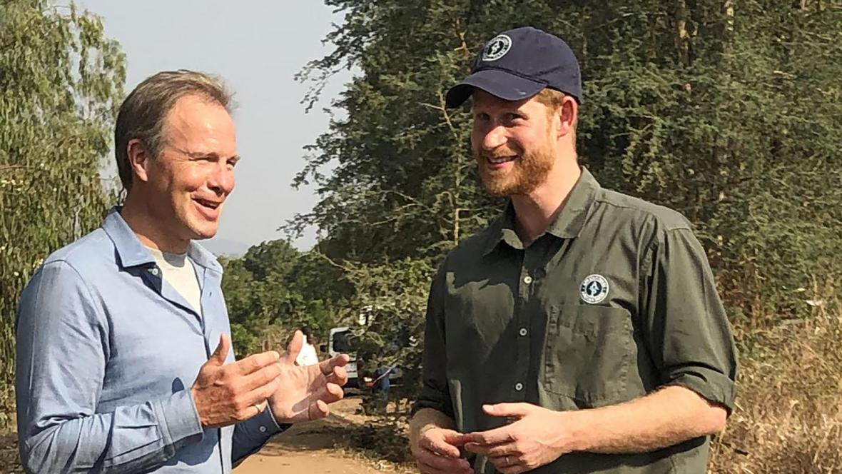 Tom Bradby et Prince Harry