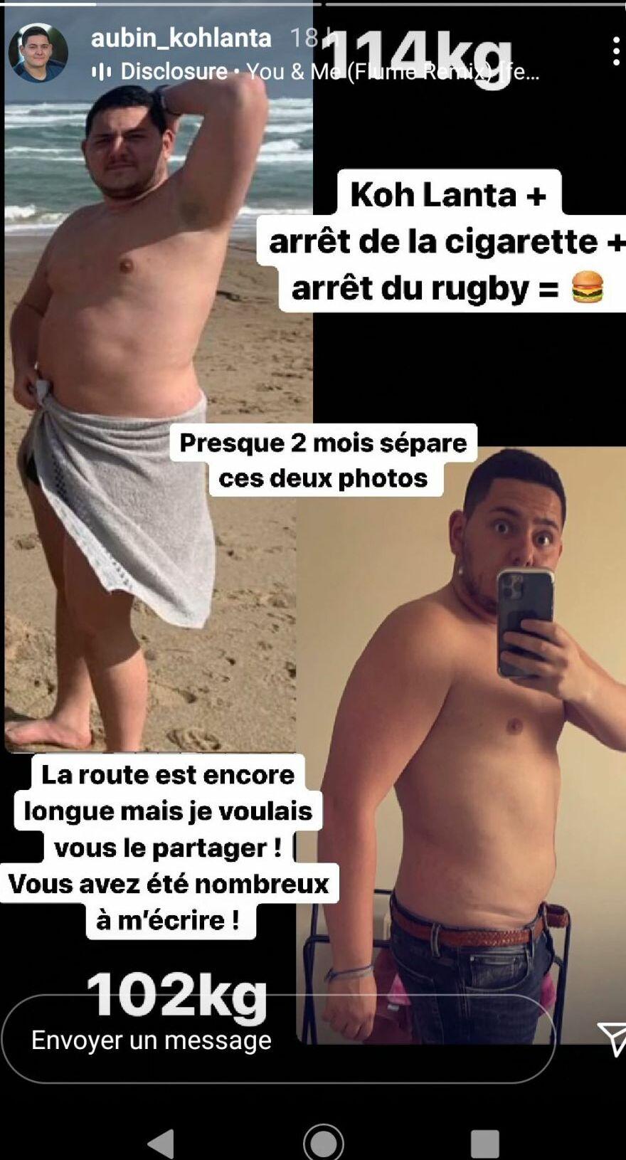Aubin (Koh-Lanta) a perdu plus de 10 kilos : Découvrez son impressionnant Avant/Après
