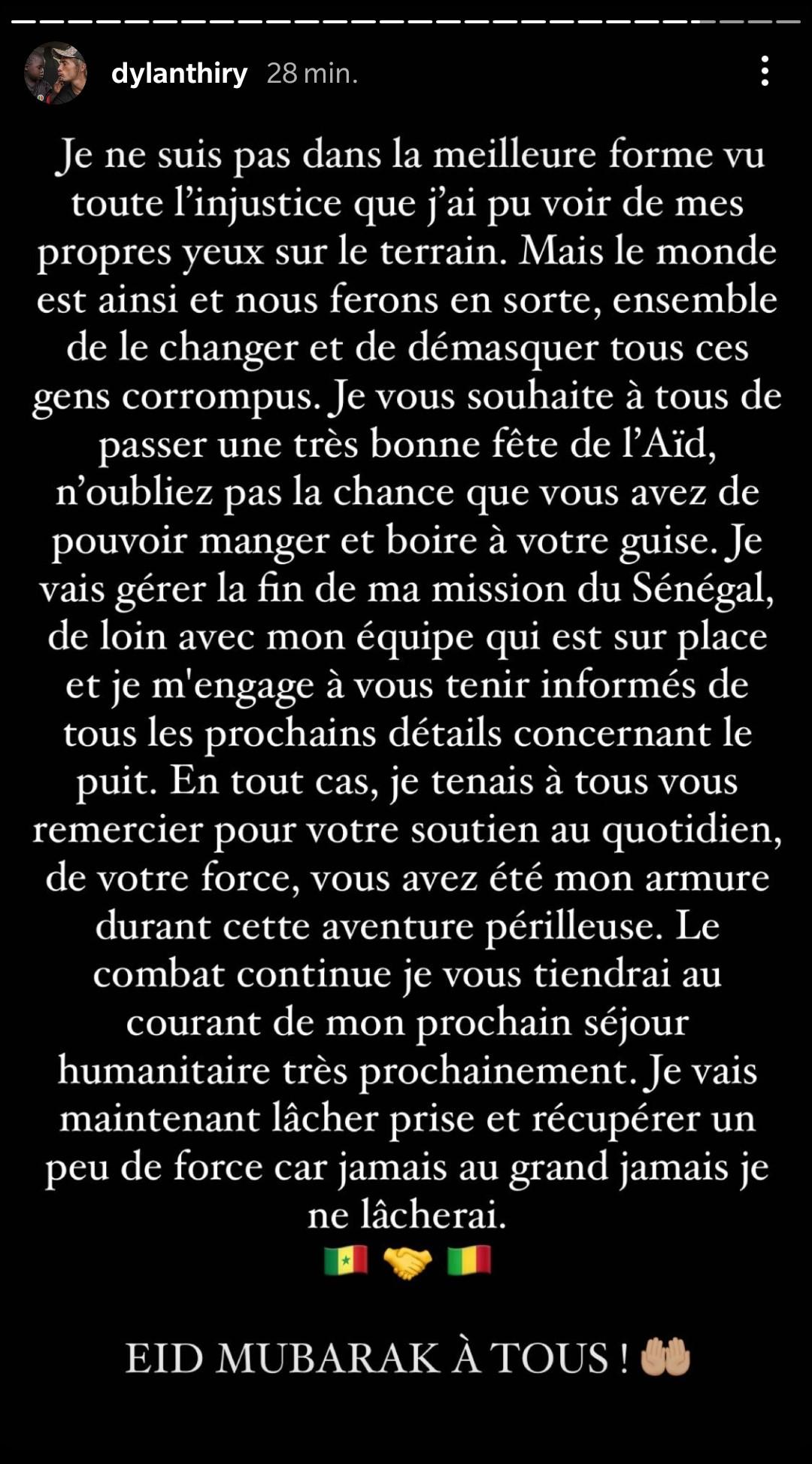 """Dylan Thiry de retour en France : """"Ma vie était clairement en danger"""""""