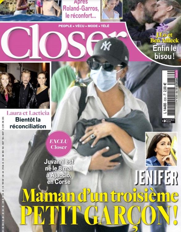 Jenifer maman pour la troisième fois : Première photo de la chanteuse avec son bébé !