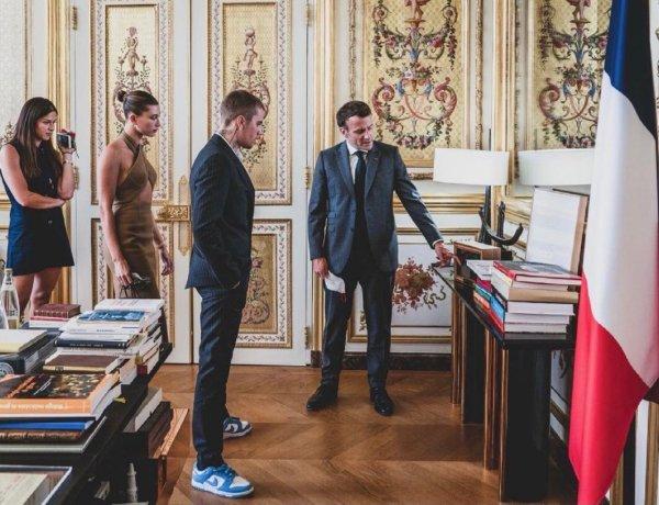 Justin Bieber reçu à l'Élysée par Emmanuel Macron : Le chanteur partage un cliché de leur rencontre