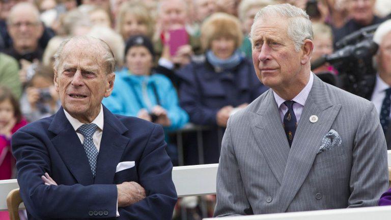 Les princes Philip et Charles