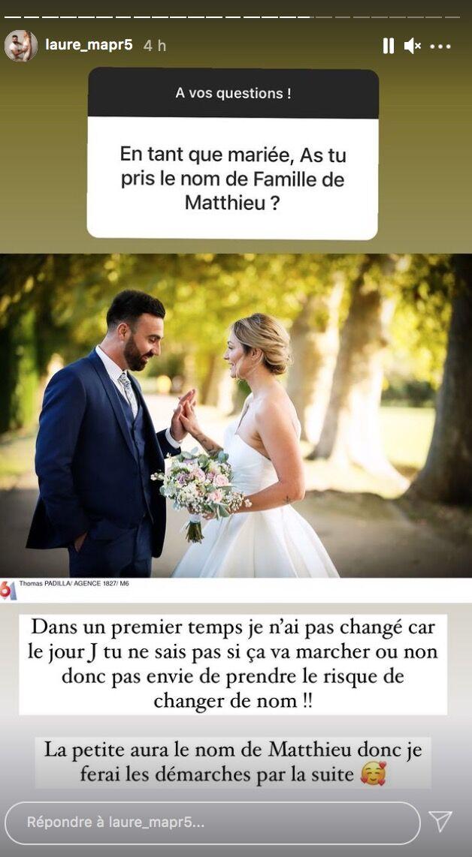 Laure (MAPR5) : Cette décision prise durant le mariage qu'elle compte faire changer !