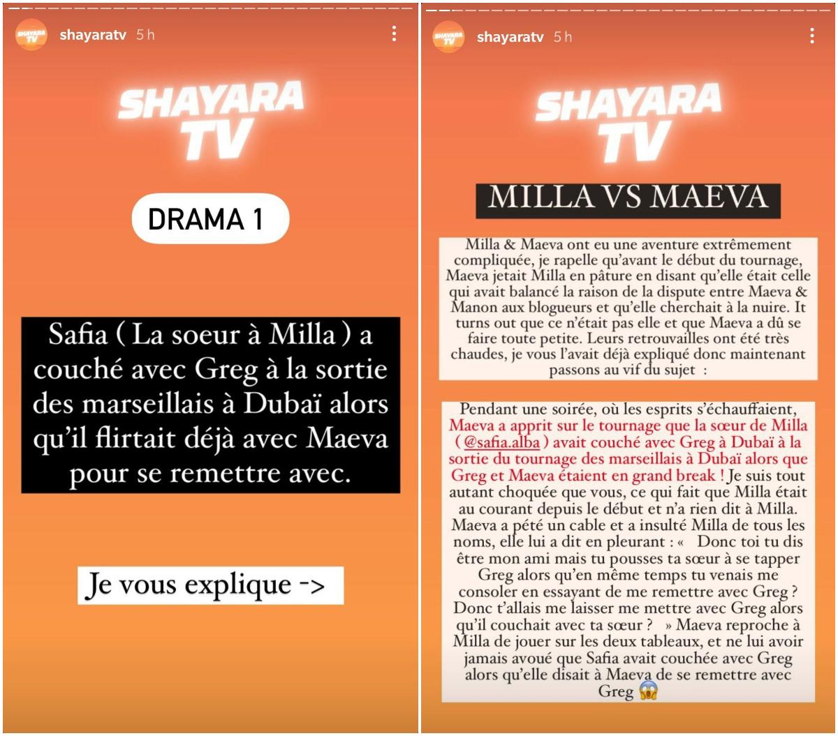 Milla Jasmine : Sa sœur Safia aurait couché avec Greg Yega dans le dos de Maeva Ghennam !