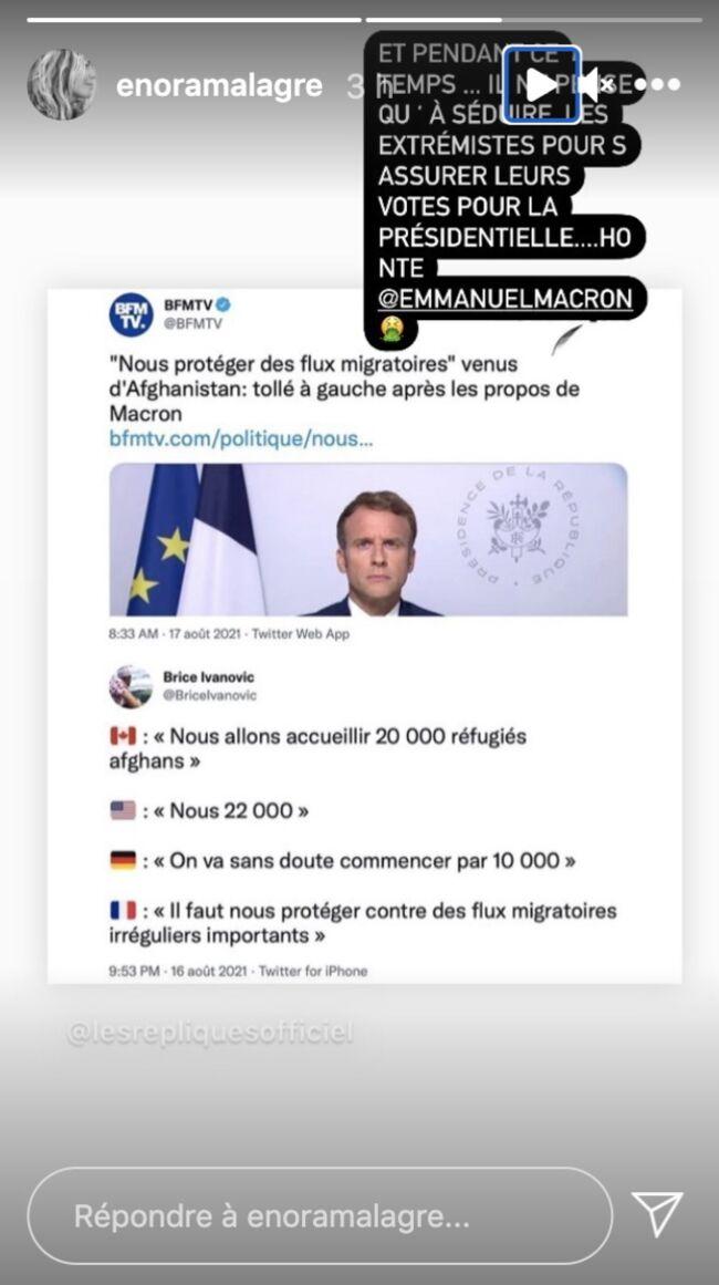 Enora Malagré : Remontée contre Emmanuel Macron, elle lui lance une pique !