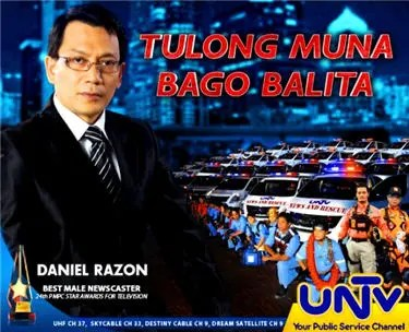 Tulong Muna Bago Balita advocacy of Kuya Daniel Razon that campaigns for news and rescue in media practice.