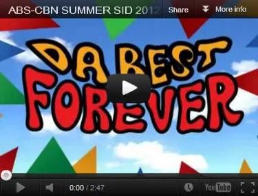 ABS-CBN Summer Station ID 2012 'Pinoy Summer, Da Best
