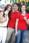 Kaye Abad, JM De Guzman and Charee Pineda