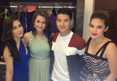 'Suddenly It's Magic' star Mario Maurer with Kapamilya leading ladies Maja Salvador, Bea Alonzo, and Shaina Magdayao