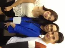 'Suddenly It's Magic' stars Mario Maurer and Erich Gonzales with ABS-CBN channel head Cory Vidanes