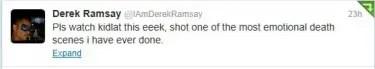 Derek Ramsay Tweet