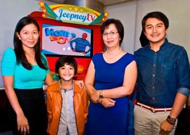 Jeepney TV Channel Manager Lala Ventura, Zaijan Jaranilla of May Bukas Pa,  Jeepney TV Channel Head Cindy De Leon, Dominic Ochoa of Whattamen