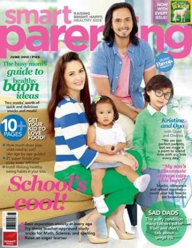 Kristine and Oyo Smart parenting mag June 2013