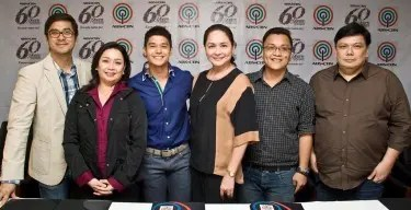 ABS-CBN TV production head Laurenti Dyogi, ABS-CBN broadcast head Cory Vidanes, Actor JC De Vera, ABS-CBN president and CEO Charo Santos-Concio, Talent manager Necie Concio, Business unit head Deo Endrinal