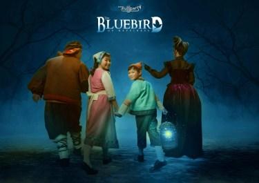 THE Bluebird if Happiness Publicity Photo - Mytyl (Chimmi Kohchet-Chua) & Tyltyl (Guido Gatmaytan) with Tylo (Robie Zialcita( & Tylette (Lynn Sherman)
