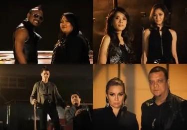 THE VOICE OF THE PHILIPPINES final four artists Janice Javier (Team Apl), Klarisse de Guzman (Team Sarah), Myk Perez (Team Bamboo), Mitoy (Team Lea)