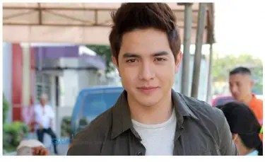 """Alden Richards during the taping of """"Carmela"""" 