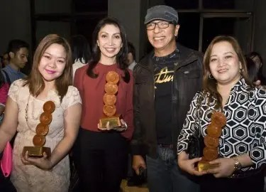 DZMM's Shally Tablada, Marah Capuyan, Ted Failon, Nannette Quong at the UPLB Gandingan Awards
