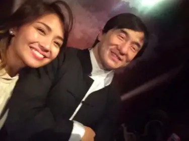 Kath with Jackie Chan