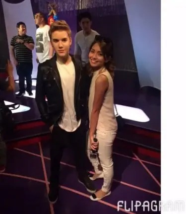 Kath with Justin Bieber