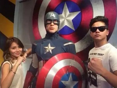 KathNiel with Captain America