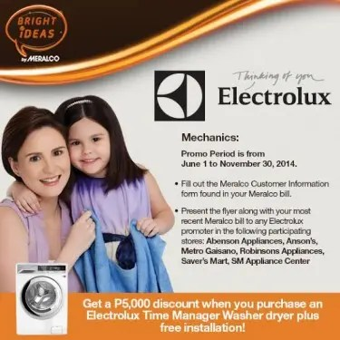 Meralco and Electrolux Promo Mechanics
