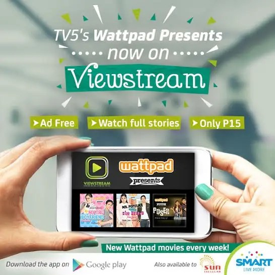 Watch TV5's 'Wattpad Presents' on Your Mobile for Only P15