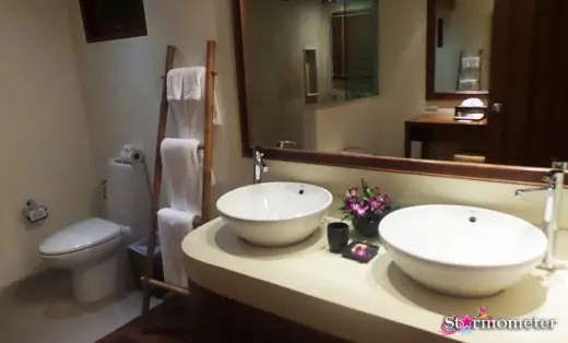 His and Her wash basins and mirror
