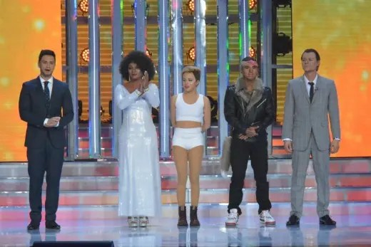 Host Billy Crawford and FINAL 4 performers Nyoy, Melai, EA, and Jay-R