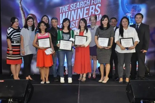 GSK Executives with the Winners Against Asthma Adult Category