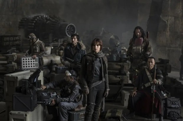 Star Wars: Rogue OneL to R: Actors Riz Ahmed, Diego Luna, Felicity Jones, Jiang Wen and Donnie YenPhoto Credit: Jonathan Olley©Lucasfilm 2016