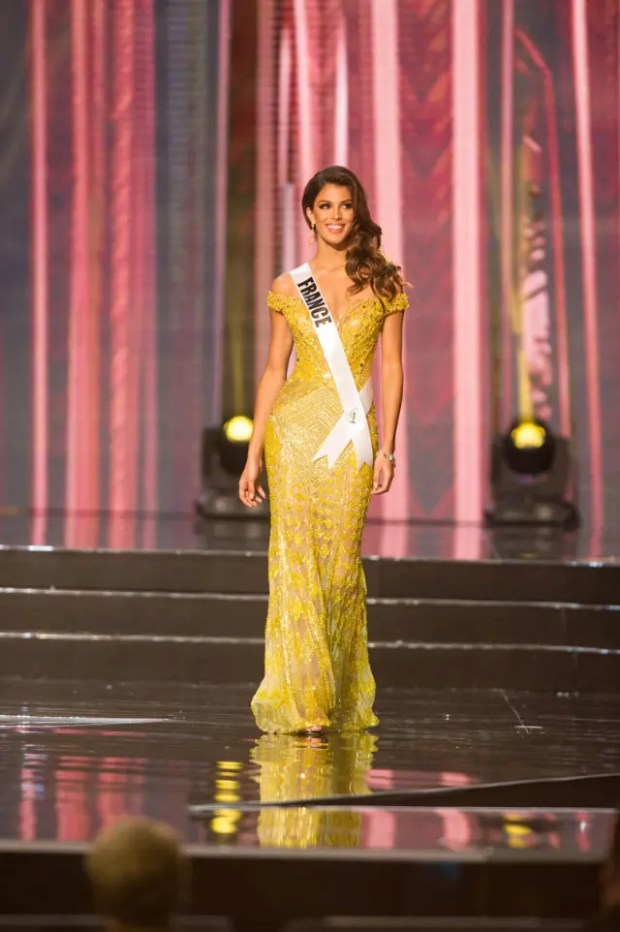Iris Mittenaere, Miss France 2016 competes on stage in her evening gown during the 65th MISS UNIVERSE® Preliminary Competition at the Mall of Asia Arena on Thursday, January 25, 2017.  The contestants have been touring, filming, rehearsing and preparing to compete for the Miss Universe crown in the Philippines.  Tune in to the FOX telecast at 7:00 PM ET live/PT tape-delayed on Sunday, January 29, live from the Philippines to see who will become Miss Universe. HO/The Miss Universe Organization