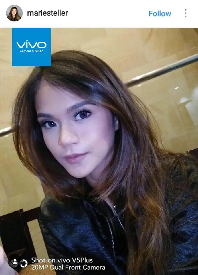 Teen star Maris Racal applauds the selfie technology of the Vivo V5 Plus, the newest flagship phone of top five premium global brand, Vivo.