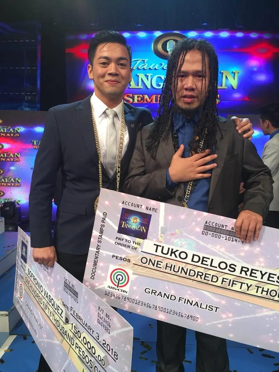 Tuko And Sofronio Make It To Tawag Ng Tanghalan Grand