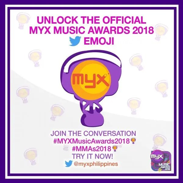 Unlock the Colorful MYX Music Awards Emoji on Twitter | Starmometer