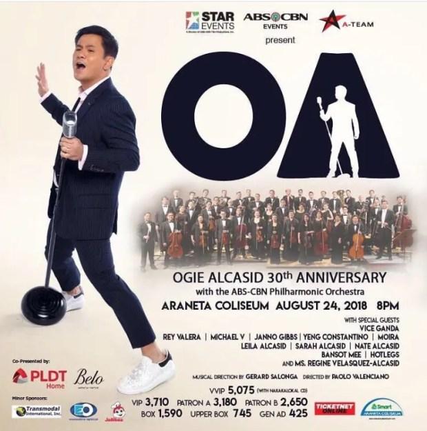 Ogie Alcasid Stages 'OA' Concert | Starmometer