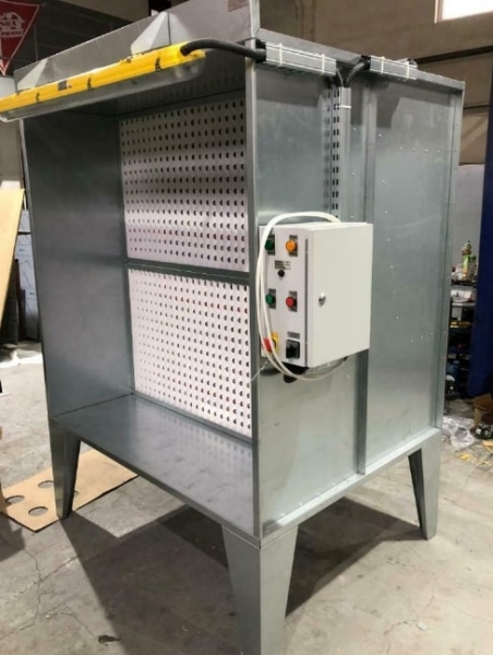 paint booth extraction system active