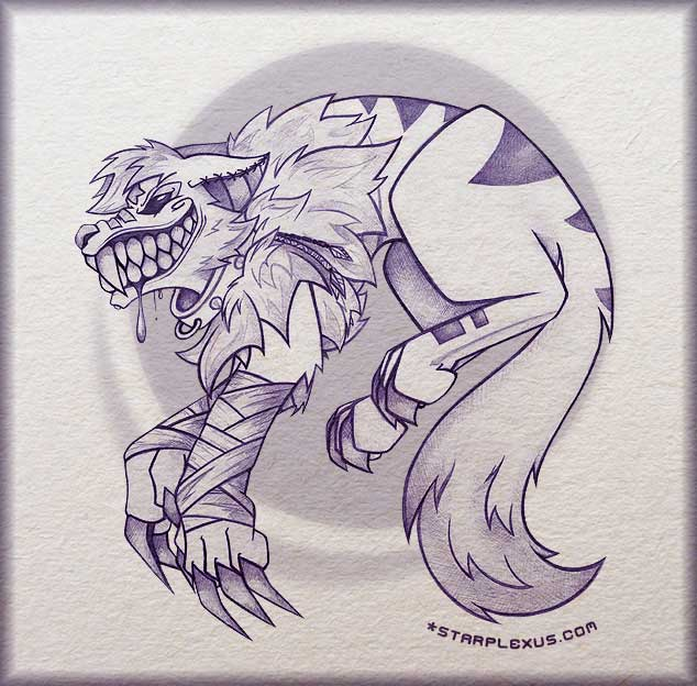 feral moon sketch