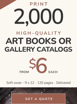 Art Book Printing Costs — 2,000 soft cover books printed, from $6 each — Delivered!