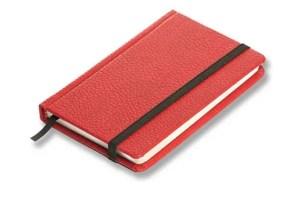 Elastic Band Notebook Journal in hardcover binding.