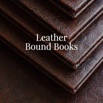 Leather Bound Books, a Binding Option. Leather Book Covers are Here