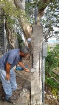 Concrete pillar being rebuilt_7