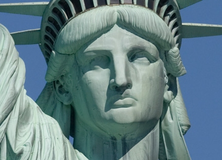 Statue of Liberty, deeply concerned