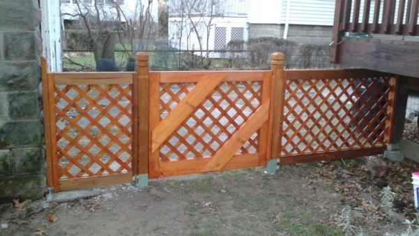 Big gate and fence