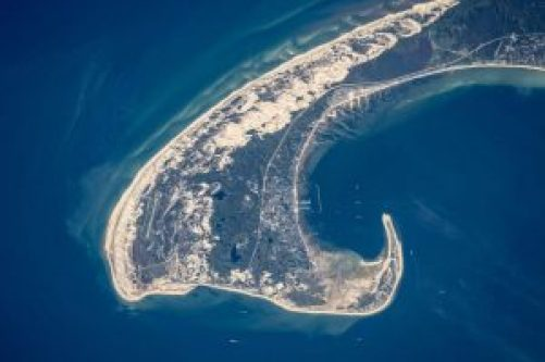 Cape Cod from the ISS, NASA image, 2015
