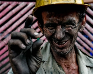 A Colombian Miner at Muzo Mines
