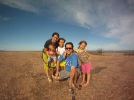 Amy and family at Enchanted Rock