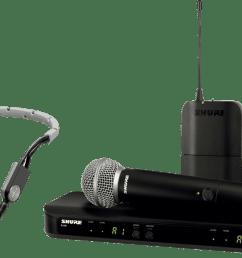 wireless handheld microphone shure blx1288e sm35 m17  [ 1200 x 691 Pixel ]